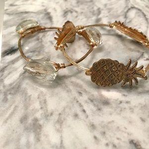 Jewelry - Pineapple bangle set